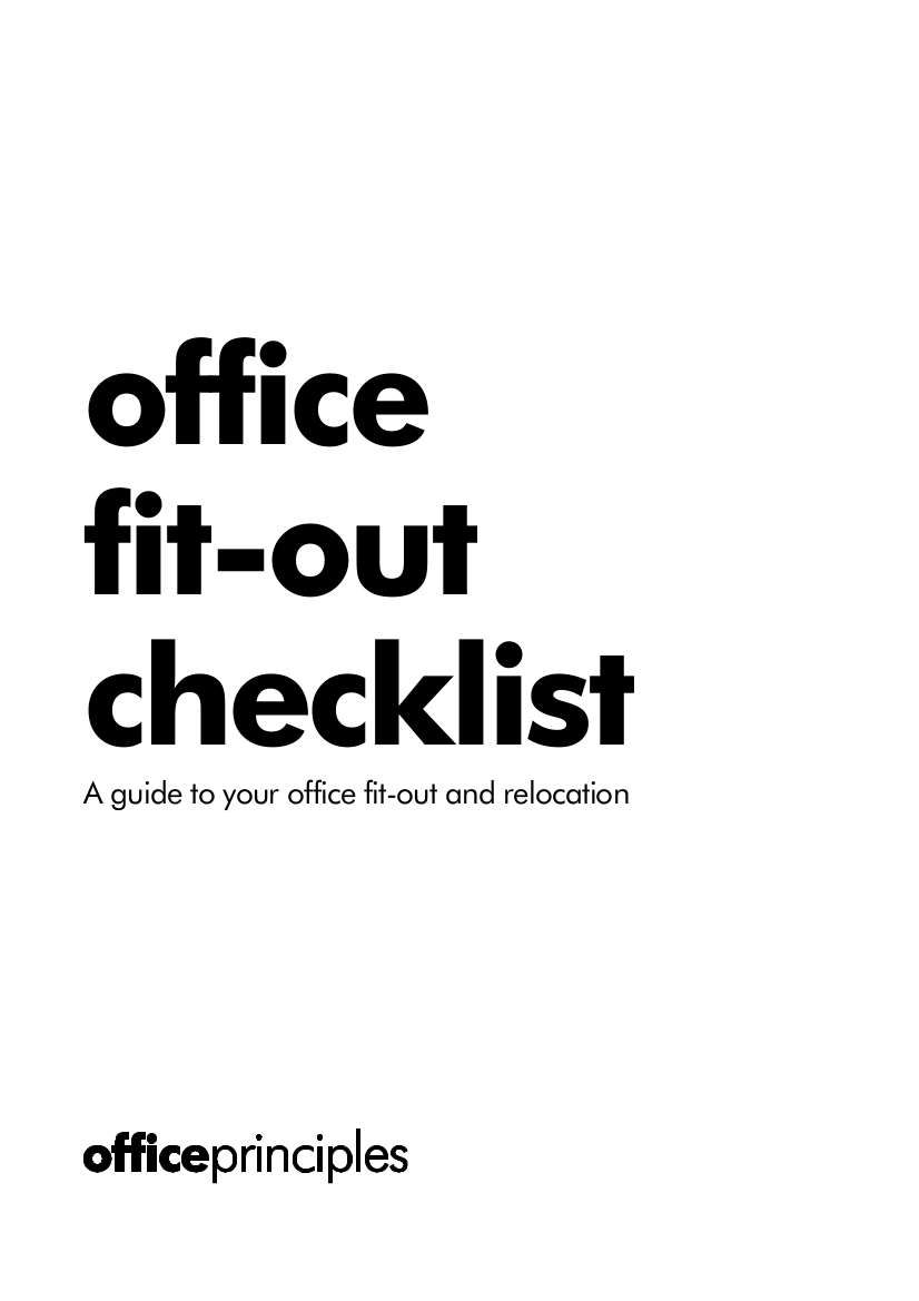 Office fit-out and office relocation checklist