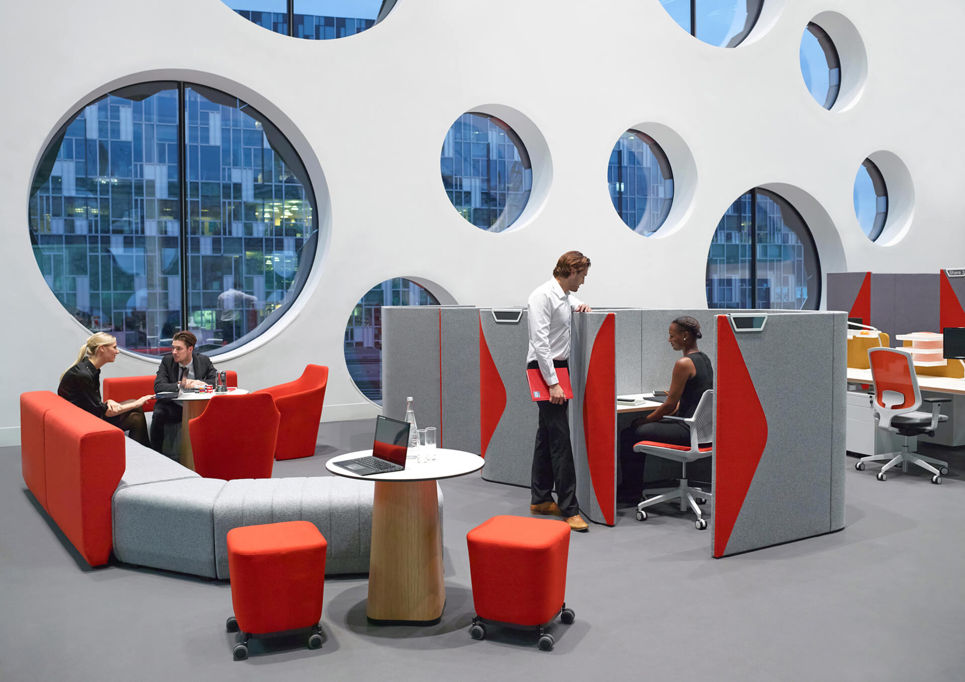 agile working office spaces