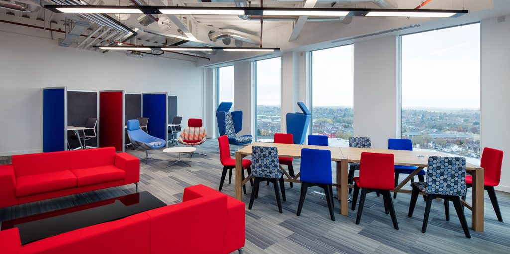 BDO reading office break out and seating area