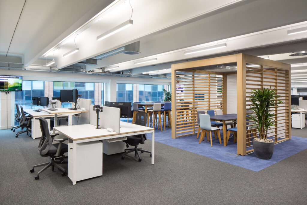 Barracuda office space with central break away area