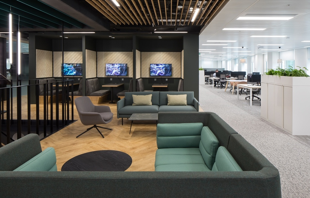 Arcadis Office booths and soft seating area